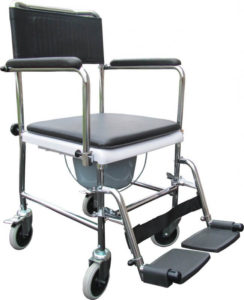 Toiletstol med hjul – to-i-en-stol