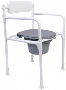 Foldbar toiletstol/bækkenstol – god til prisen