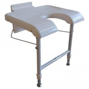 Væghængt badestol – spar på pladsen