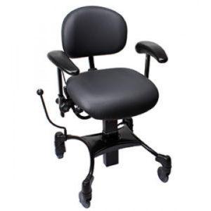 Vela Tango 100 El – arbejdsstol med elektrisk højdestilling – Vela stol med ekstra støtte til lænd