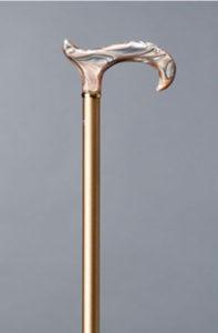 Champagnefarvet Gastrock-Sauer spadserestok i aluminum