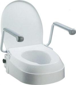 Justerbar toiletforhøjer med armlæn